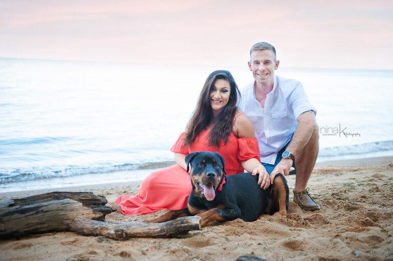 maternity photos with dog